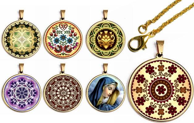 Exkluzív arany színű fém medálok