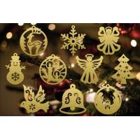 Ajándék karácsonyfadíszek
