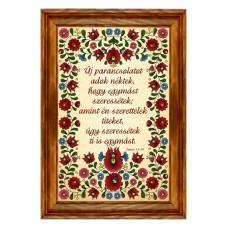 Igés-Falikép-Új parancsolatot