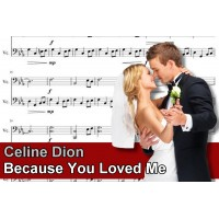 Zenélő doboz Celine Dion Because You Loved Me