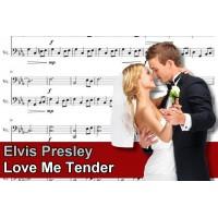 Zenélő doboz Elvis Presley Love Me Tender