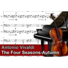 Zenélő doboz Antonio Vivaldi The Four Seasons Autumn