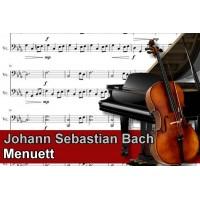 Zenélő doboz Johann Sebastian Bach Menuett