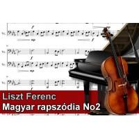 Zenélő doboz Liszt Ferenc Magyar rapszódia No2