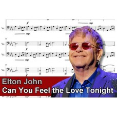 Zenélő doboz Elton John Can You Feel The Love Tonight